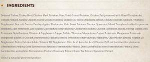 Wellness Core Grain Free Small Breed Ingredients List