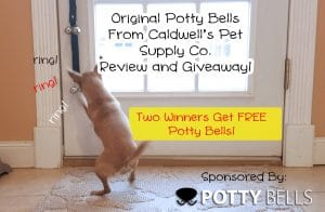 2 Winners get free #pottybells from Caldwell's Pet Supply Co! #sponsored